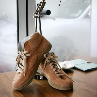 Picture of BoynMen Faux Suede High Top Sneakers 1022078035 (Sneakers, BoynMen Shoes, Korea Shoes, Mens Shoes, Mens Sneakers)