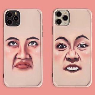 Image of Face Print Phone Case - iPhone 11 Pro Max / 11 Pro / 11 / SE / XS Max / XS / XR / X / SE 2 / 8 / 8 Plus / 7 / 7 Plus / 6s