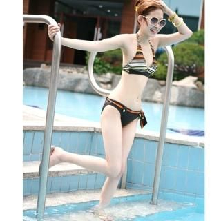Picture of Alicegohomea Striped Bikini 1022877637 (Alicegohomea Apparel, Womens Swimwear, South Korea Apparel, South Korea Swimwear)
