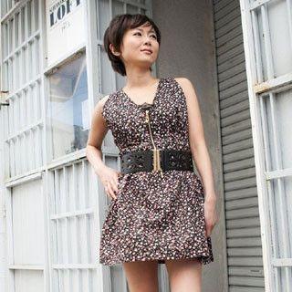 Picture of ageha@shibuya Floral Print Sleeveless Zip Dress Black - One Size 1022149437 (ageha@shibuya Tees, Womens Tees, Japan Tees, Causal Tops, Print / Logo Shirts)