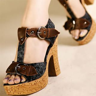 Picture of Kvoll T-Strap Buckled Platform High-Heels 1023070269 (Other Shoes, Kvoll Shoes, China Shoes, Womens Shoes, Other Womens Shoes)