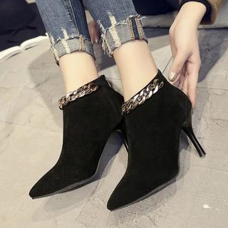 Image of Chained High-heel Ankle Boots