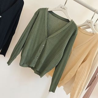 Ribbed V-Neck Cardigan 1059434383