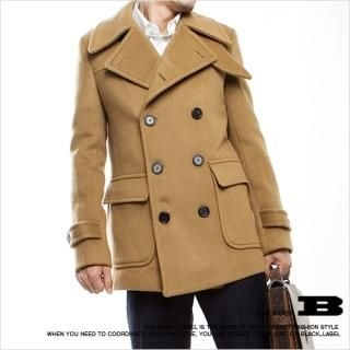 Buy Style Impact Double-Breasted Pea Coat 1021554774