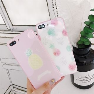 Pineapple Print Phone Case - iPhone 6 / 6 Plus / 7 / 7 Plus / 8 / 8 Plus / X 1066776807