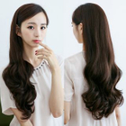 Long Half Wig - Wavy Dark Brown - One Size от YesStyle.com INT