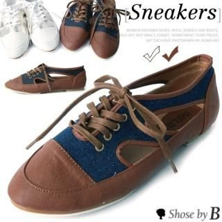 Buy Shoes by B Open-Side Lace-Up Sneakers 1022850665