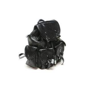 Buy Portfranc Faux-Leather Woven Backpack 1022392183