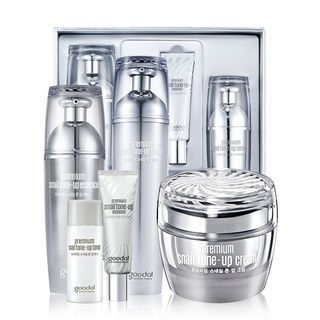 Goodal - Premium Snail Tone-Up Cream Set: Toner 130ml + Essence 50ml + Cream 50ml 3pcs 1060767431