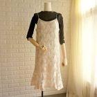 Spaghetti Strap Sheath Lace Dress 1596