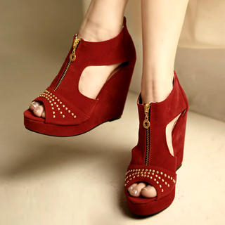 Picture of Kvoll Zip-Front Wedges 1022654477 (Other Shoes, Kvoll Shoes, China Shoes, Womens Shoes, Other Womens Shoes)