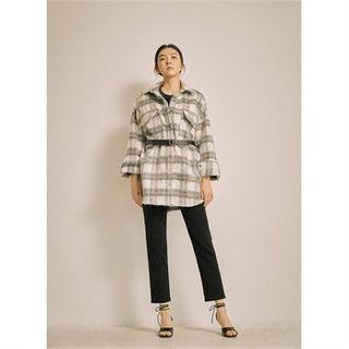 Plaid Loose-fit Jacket