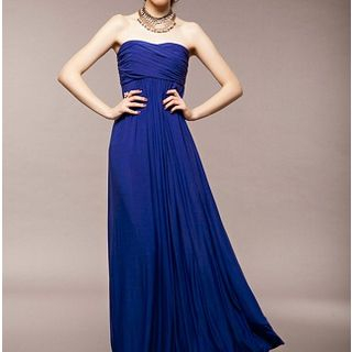 Strapless Evening Dress Blue
