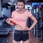 Set of 3: Sport Short Sleeve T-Shirt + Sport Bra + Sport Shoorts 1596