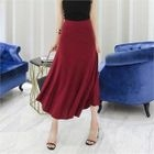 Band-Waist Long Flare Skirt 1596