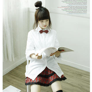 Buy Dodostyle Lace Trim Check Skirt 1021292494