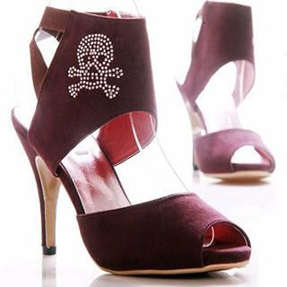 "Buy Kvoll Rhinestone ""Skull"" Sandals 1022463999"