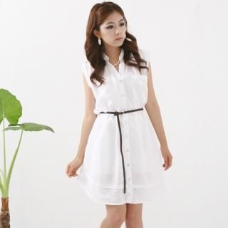 Picture of Queen's Look Sleeveless Linen Dress with Belt 1022868934 (Queen's Look Dresses, Womens Dresses, South Korea Dresses, Sleeveless Dresses)