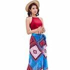 Swim Set: Tankini + Patterned Skirt 1596