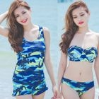 Set: Camo Bikini + Tank Top + Shorts 1596