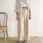 Plain Linen Wide-Leg Pants 1596
