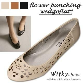 Picture of Wifky Wedge Pumps 1022528010 (Pump Shoes, Wifky Shoes, Korea Shoes, Womens Shoes, Womens Pump Shoes)