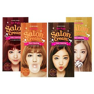 Etude House - Hot Style Salon Cream Hair Coloring: Hairdye 35g + Oxidizing Agent 70ml + Hair Treatment 10ml Cherry Red Brown 1057193034