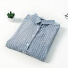 Pinstriped Linen Cotton Blouse 1596