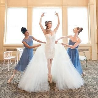 Strapless Lace-Panel Wedding Dress