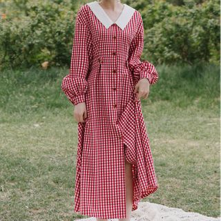 Long-sleeve | Plaid | Dress
