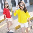 Kids Set: Bell-Sleeve Top + Shorts 1596