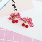 Cherry Ribbon Earrings 1596