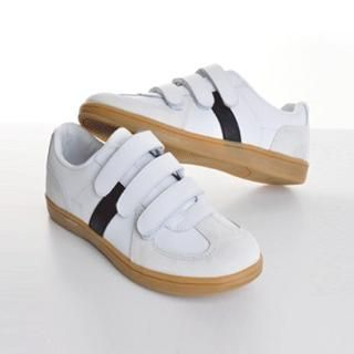 Picture of ISNOM Contrast Trim Velcro Sneakers 1022446066 (Sneakers, ISNOM Shoes, Korea Shoes, Mens Shoes, Mens Sneakers)