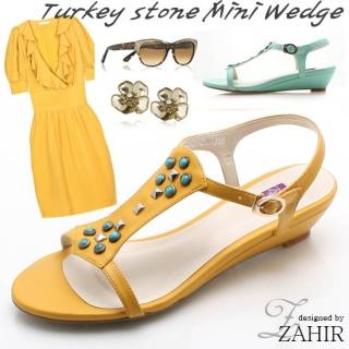 Picture of ZAHIR Studded T-Strap Sandals 1022834614 (Sandals, ZAHIR Shoes, Korea Shoes, Womens Shoes, Womens Sandals)