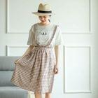 Check Midi Pinafore Dress 1596