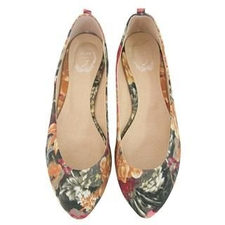 Picture of AKA Pointy Floral Printed Flats 1022498692 (Flat Shoes, AKA Shoes, Korea Shoes, Womens Shoes, Womens Flat Shoes)