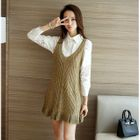 Set: Lace Blouse + Knit Sleeveless Dress 1596