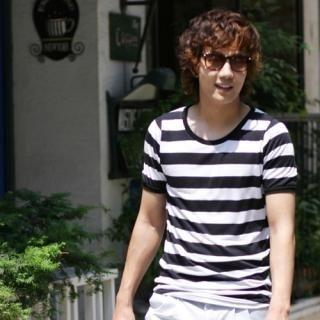 Buy Hwang Kum Style Stripe Tee Shirt 1022881208
