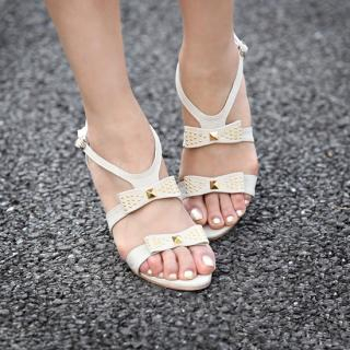 "Buy STYLEKELLY Studded ""Bow"" Sandals 1022874835"
