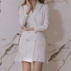 Long-Sleeve Buttoned Dress 1596
