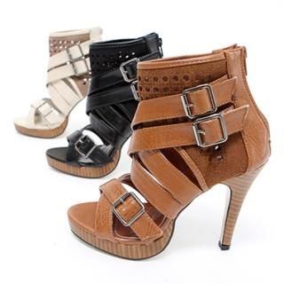 Buy KENZI Ankle Length Buckled Stilettos 1022814233