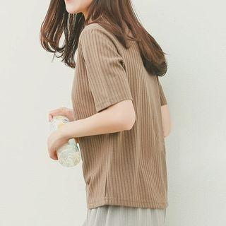 Ribbed Short-Sleeve T-shirt 1059692550