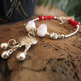 Image of Ceramic Bead Alloy Anklet