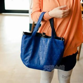 Skull Embossed Tote with Inner Bag