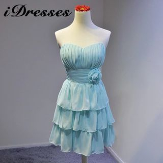 Strapless Tiered Bridesmaid Dress