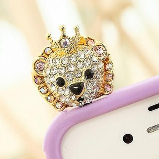 Product Image of Rhinestone Lion Earphone Plug