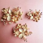 Set of 3: Bridal Embellished Floral Hair Clip 1596