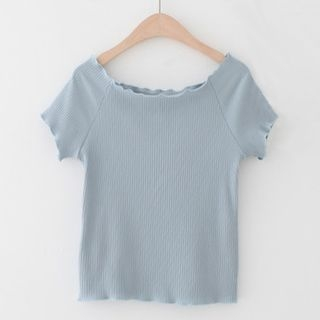Ribbed Short-Sleeve T-Shirt 1060315039