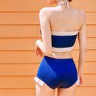 Halter Frilled Knit Bikini Set 1596