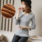 Round Neck Rib Knit Top 1596